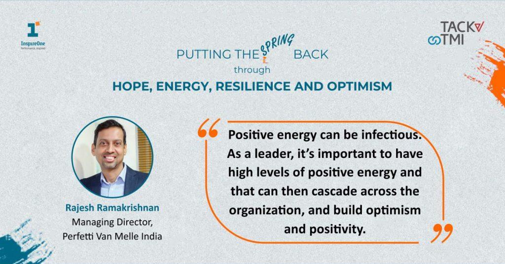 Quote used by the MD of Perfeeti Rajesh Ramakrishnan