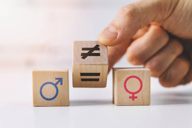 Geender equality being depicted through individual blocks